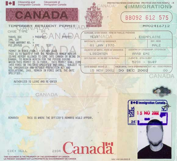 Travel Permit For Canada
